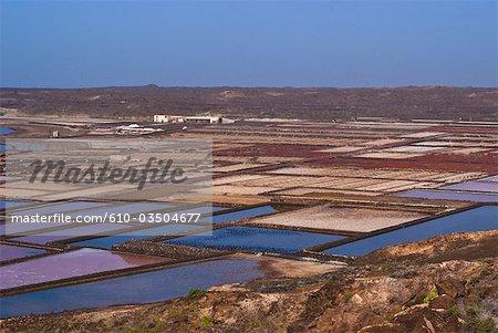 Spain, Canary islands, Lanzarote, Salinas de Janubio