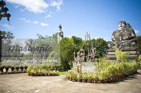 Thailand, near Nong Khai, temple of Kaewkoo