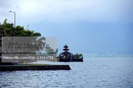 Indonesia, Bali, temple of  Pura Ulun Danu Bratan on the Bratan lake