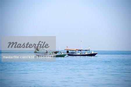 Indonesia, Bali, Jimbaran, fish boats