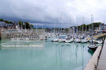France, Normandy, Saint-Valery-en-Caux, the port