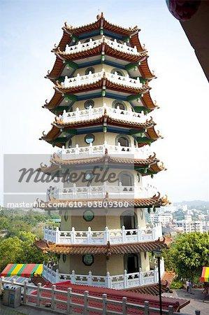 China, Taiwan, Changhua, buddhist temple, stupa