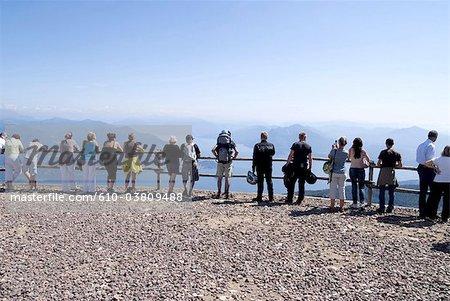 Italy, Piedmont, lake Maggiore, tourists