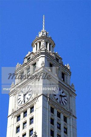 United States, Illinois, Chicago, Wrigley building