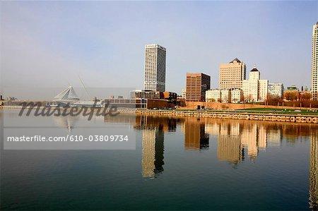 United States, Wisconsin, Milwaukee, Michigan lake