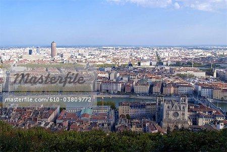 France, Rhone Alpes, Lyon, basilica of Fourviere