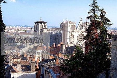France, Rhone Alpes, Lyon cathedral