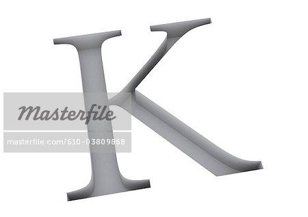 Typography : letter K