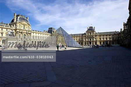 France, Paris (75), Ile de France, Louvre, the pyramid