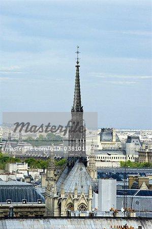 France, Paris (75), Ile de France, spire of the sainte chapelle