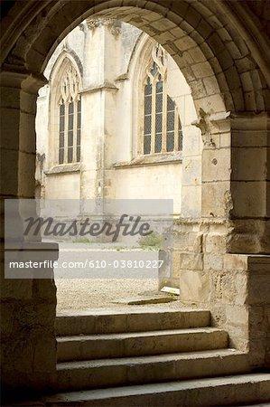 France, Poitou Charentes, Saintes, cloister of Saint Pierre cathedral
