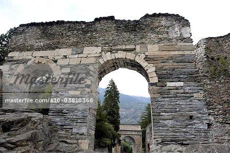 Italy, Piedmont, Susa, roman aqueduct