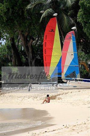 Barbados, west coast beach