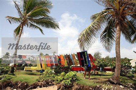 Barbados, Bathsheba, drying linen