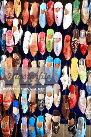 Morocco, Essaouira, the souk, oriental slipper