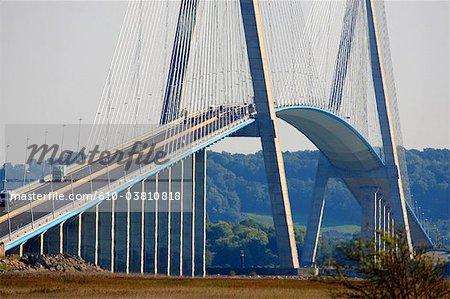 France, pont de Normandie between Le Havre and Honfleur