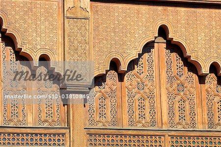 Morocco, Marrakech, architectural detail