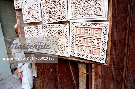 Morocco, Marrakech, souk, engraver