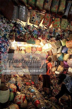 Morocco, Marrakech, souk, tourists