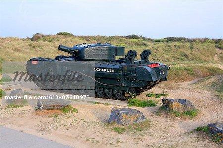France, Normandy, Courseulles-sur-Mer, juno beach, tank