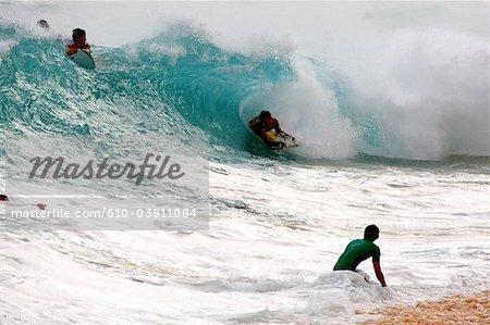 United States, Hawaii, Oahu island, North Shore, Sandy beach