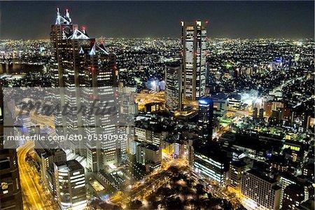 Japan, Tokyo by night