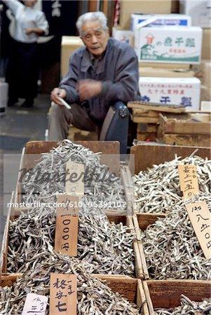 Japan, Tokyo, Tsukiji fishmarket