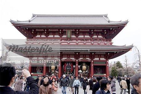 Japan, Tokyo, buddhist temple of Asakusa