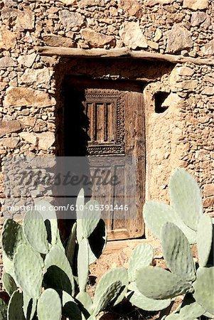 Morocco, Ameln valley, Oumesnat, door