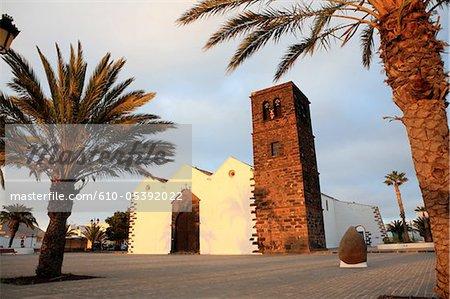 Spain, Canary islands, La Oliva, church