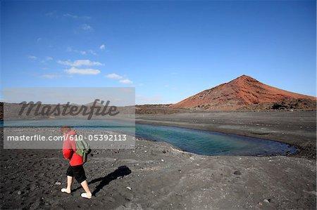 Spain, Canary islands, Lanzarote, National park of Timanfaya, Bermeja mountain