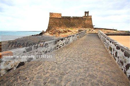 Spain, Canary islands, Lanzarote, Arrecife, castillo de San Gabriel