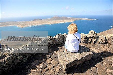Spain, Canary islands, Lanzarote, Mirador del Rio