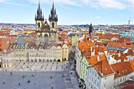 Czech Republic, Prague, staromestske square, church of our lady before Tyn