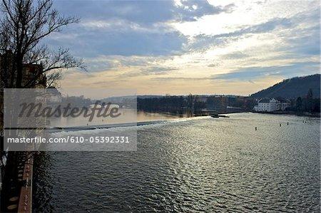 Czech Republic, Prague, Vltava river