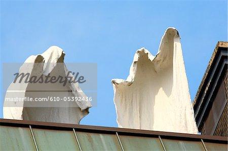 Belgium, Antwerp, statue of ghosts