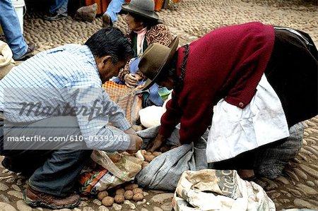 Peru, Pisac, market
