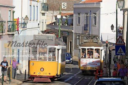 Portugal, Lisbon, old streetcars