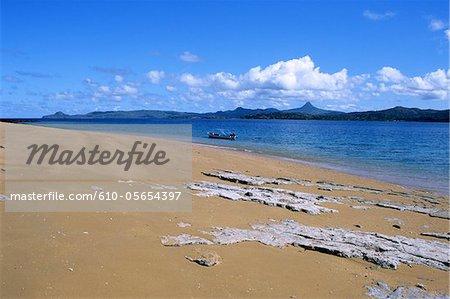 Mayotte, Bandrele island, the beach