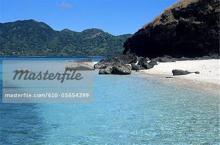 Mayotte, Choisil island, the beach