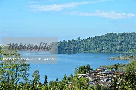 Indonesia, Bali, Bratan lake and Ulun Danu Bratan temple