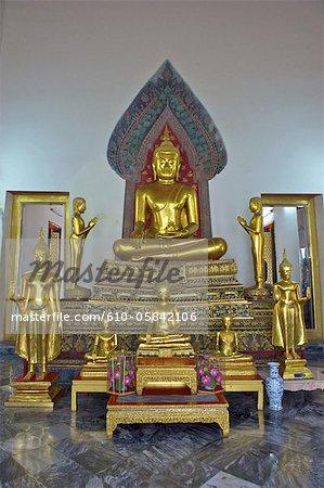 Thailand, Bangkok, Wat Pho, inside a temple