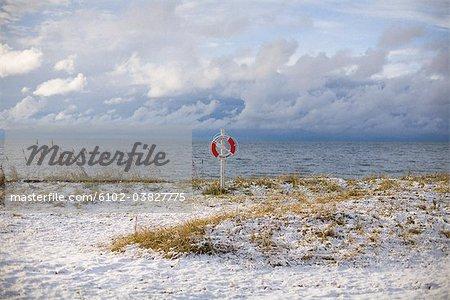 A snowy beach, Gotland, Sweden.