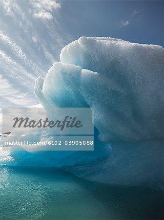 Cave in iceberg