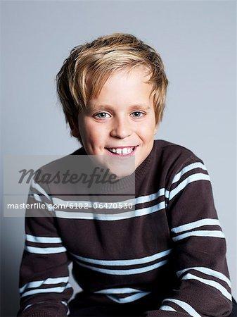 Portrait of a blond boy.