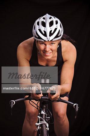Portrait of woman cyclist