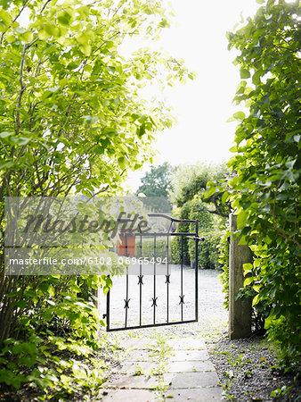 Open garden gate