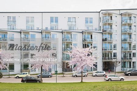Residential buildings in Stockholm, Sweden