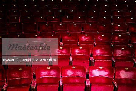 Seats in theatre, Stockholm, Sweden