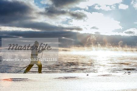 Skiing at sea, Ingaro, Sweden